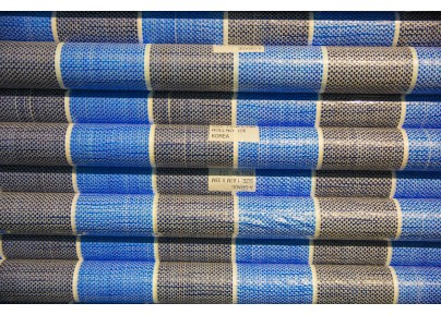 PE Tarpaulin Canvas Roll - Blue/ White
