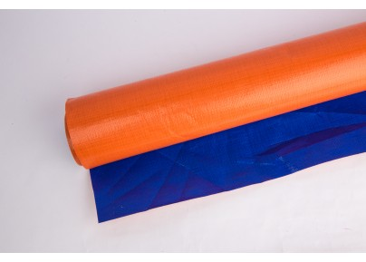 PE Tarpaulin Canvas- Orange/ Blue